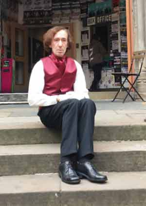 "Image of Phil Aughey shortly after playing in ""Chopin's Last Tour"" in Edinbugrh Fringe Festival 2015"